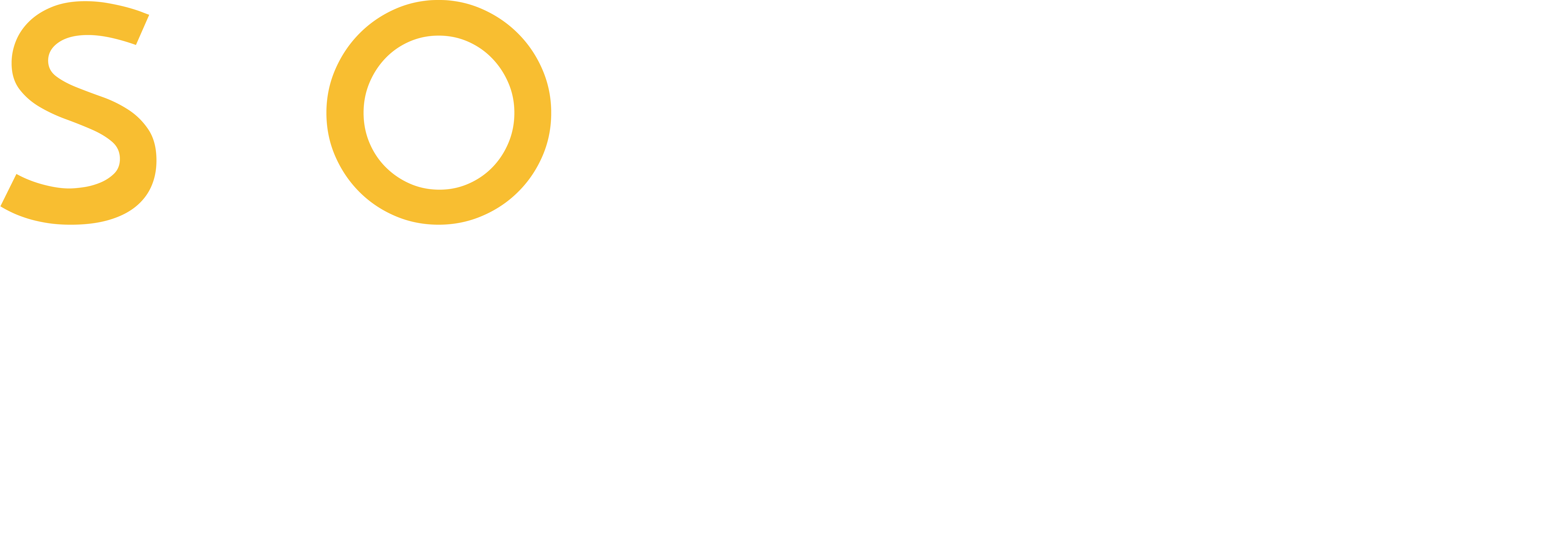 So You Homes logo in white upper case letters with yellow word 'So'